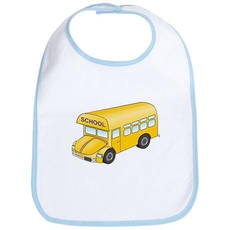 Cartoon School Bus Bib