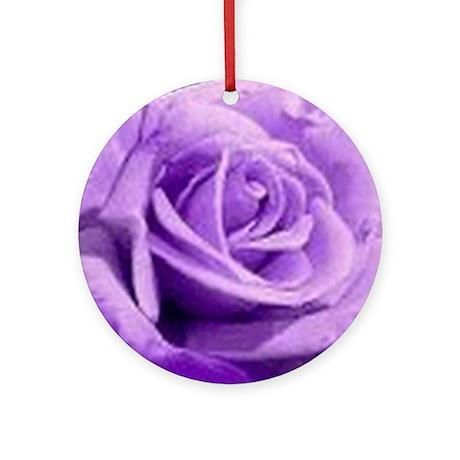 Rose Purple Ornament (Round)
