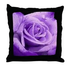 Rose Purple Throw Pillow
