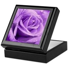 Rose Purple Keepsake Box