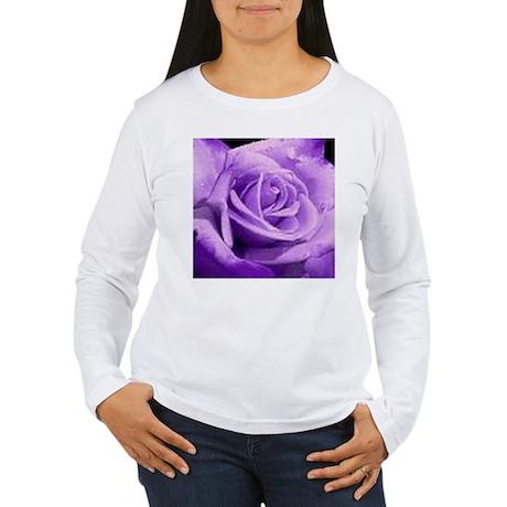 Rose Purple Women's Long Sleeve T-Shirt