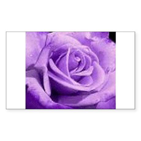 Rose Purple Rectangle Sticker