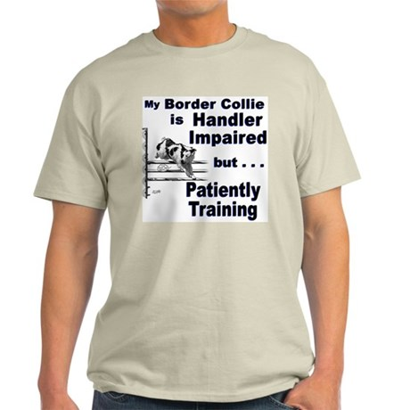 Border Collie Agility Ash Grey T-Shirt