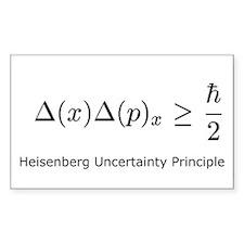 Heisenberg Uncertainty Princi Sticker (Rectangular