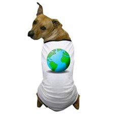 Earth Globe Dog T-Shirt
