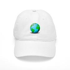 Earth Globe Baseball Baseball Baseball Cap