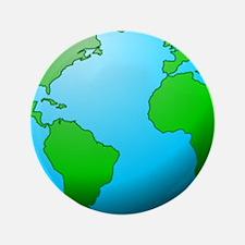 """Earth Globe 3.5"""" Button"""