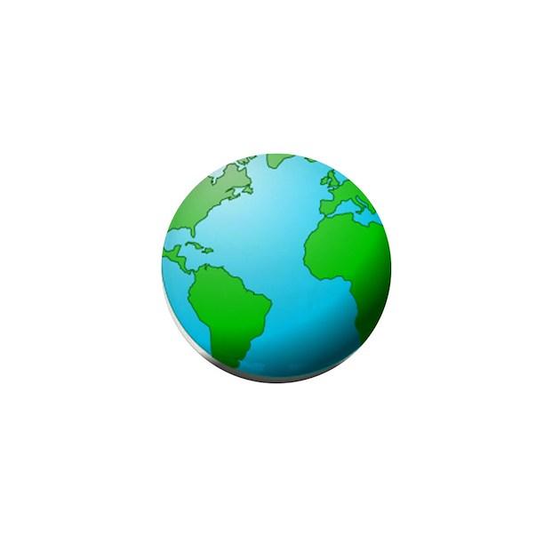 Earth Globe Mini Button By Istudiographics