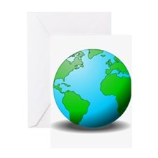 Earth Globe Greeting Cards