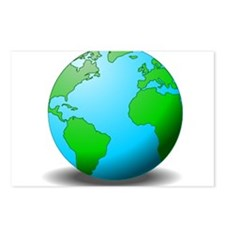 Earth Globe Postcards (Package of 8)