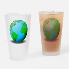 Earth Globe Drinking Glass