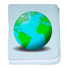 Earth Globe baby blanket