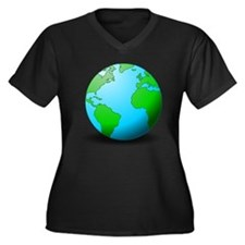 Earth Globe Plus Size T-Shirt