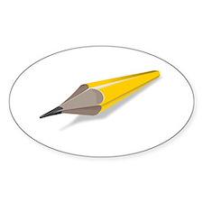 Cartoon Pencil Bumper Stickers