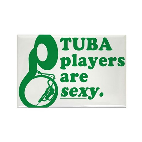 Tuba Players are Sexy Rectangle Magnet (100 pack)