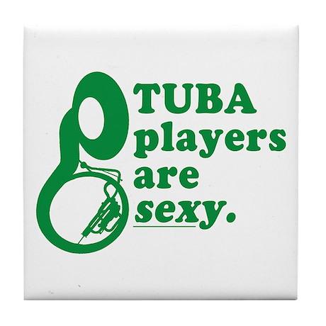 Tuba Players are Sexy Tile Coaster