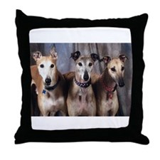 Greyhounds Three Throw Pillow