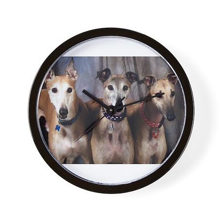 Greyhounds Three Wall Clock