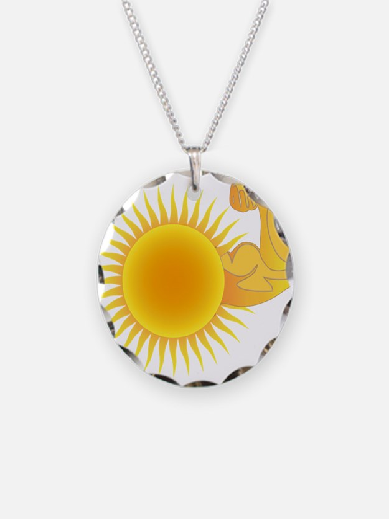 Solar Power Sun Necklace