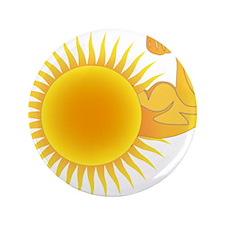 """Solar Power Sun 3.5"""" Button"""