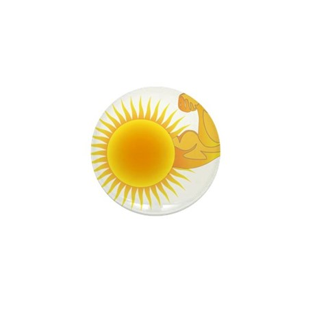 Solar Power Sun Mini Button (10 pack)