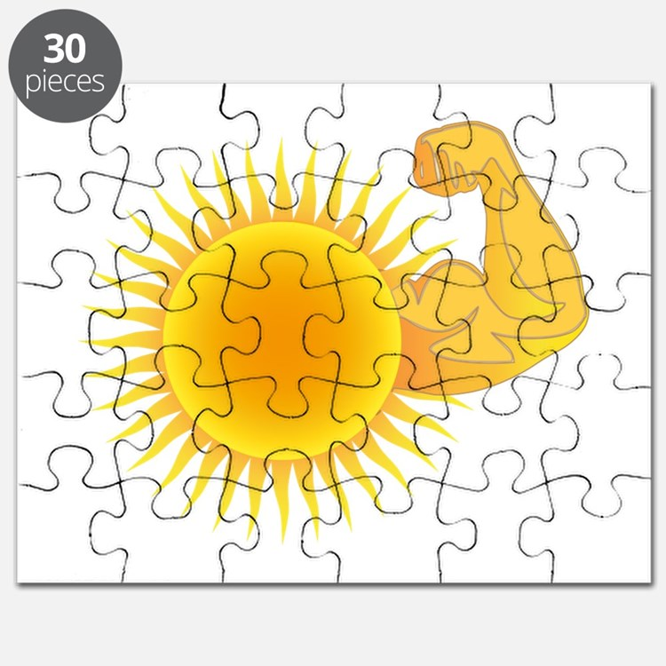 Solar Power Sun Puzzle