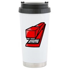 Red Stapler Travel Mug
