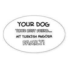 My turkish angora Cat is Family Decal