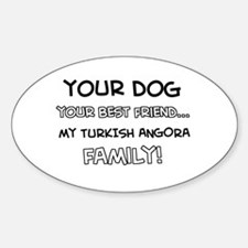 My turkish angora Cat is Family Decal