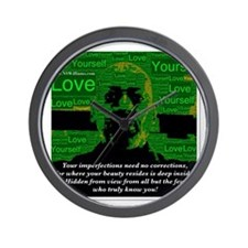 Love Yourself Wall Clock