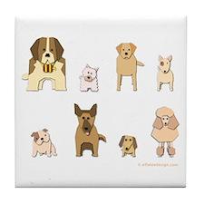 Woof Gang Line Up! Tile Coaster