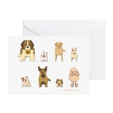 Woof Gang Line Up! Greeting Cards (Pk of 10)