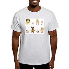 Woof Gang Line Up! Ash Grey T-Shirt