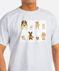 Woof Gang Line Up! Ash Grey T-Shirt
