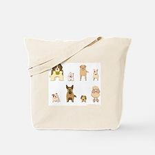 Woof Gang Line Up! Tote Bag