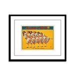 Dancing Chicks Framed Panel Print