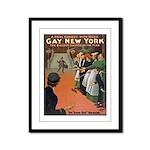 gay new york Framed Panel Print