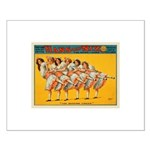 Dancing Chicks Small Poster