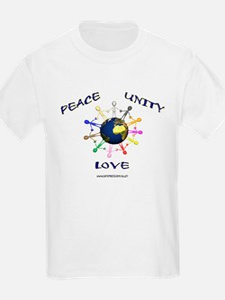 Peace Unity Love Kids T-Shirt