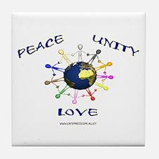 Peace Unity Love Tile Coaster