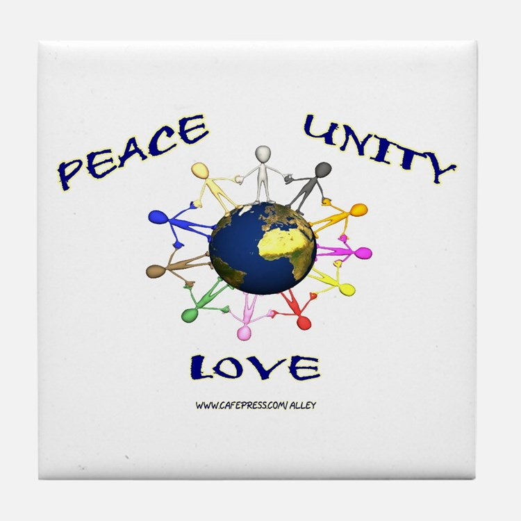 Peace Unity Love Tile Coaster