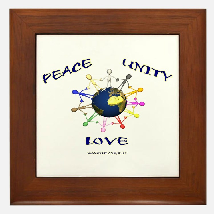 Peace Unity Love Framed Tile