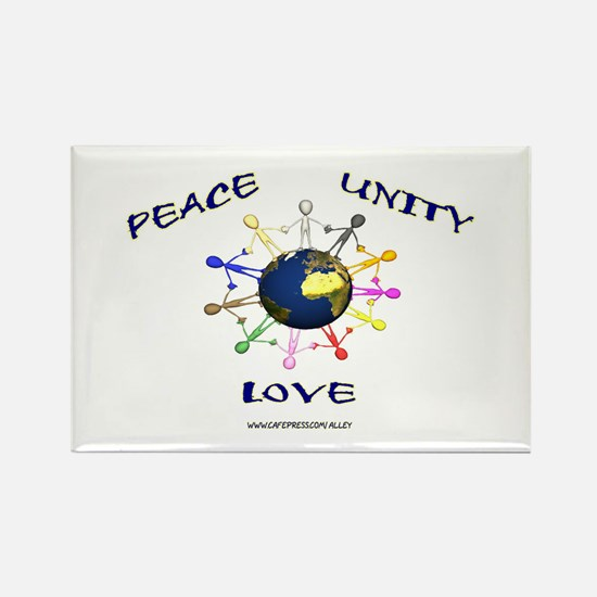 Peace Unity Love Rectangle Magnet