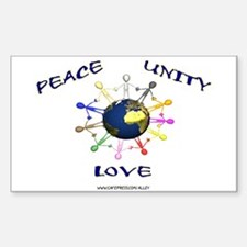 Peace Unity Love Rectangle Decal