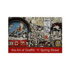 Unique New york street arts Rectangle Magnet