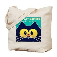 Vintage Style Cat Rescuer Collection Tote Bag