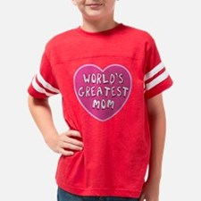Unique New mom valentines Youth Football Shirt