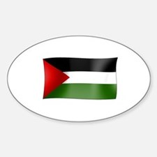 Flag of Palestine Oval Decal