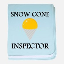Snow Cone Inspector baby blanket