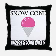 Snow Cone Inspector Throw Pillow